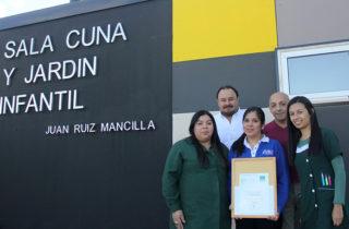 """Jardín """"Juan Ruiz Mancilla"""" recibió reconocimiento por su trabajo en seguridad"""