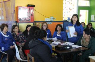 Jardines participan de jornada reflexiva en el Marco para la Buena Enseñanza de Educación Parvularia